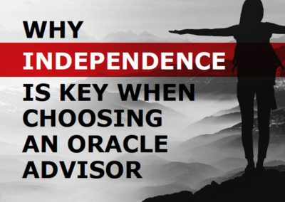 Oracle Advisors: Why Independence is Key