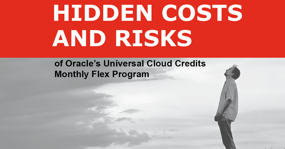 Oracle's Univseral Cloud Credits