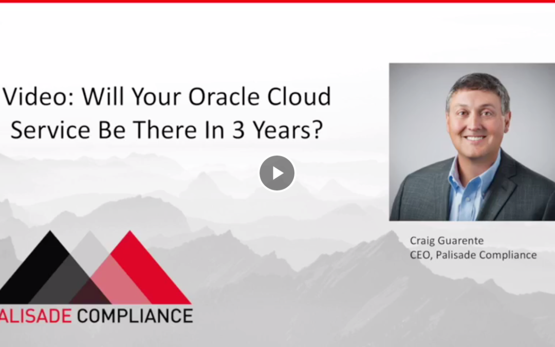 Will Your Oracle Cloud Service be Around in 3 Years?