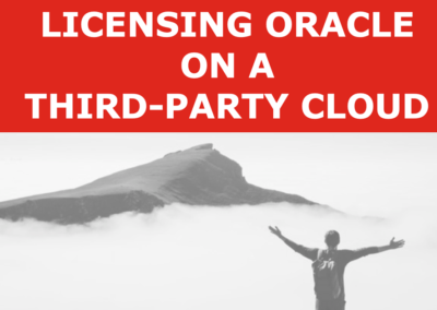 Licensing Oracle on a Third-Party Cloud