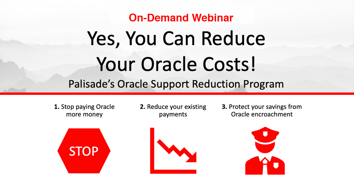 Reduce Oracle Costs Webinar