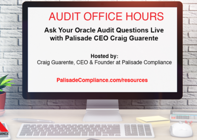 Oracle Audit Office Hours with Craig Guarente
