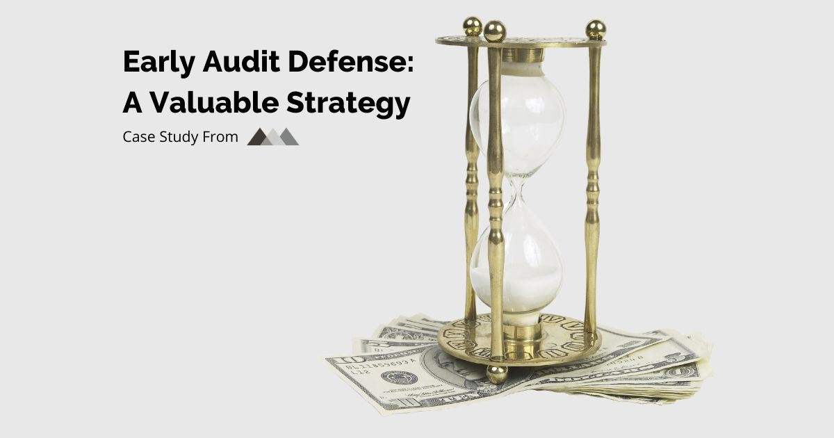 early audit defense