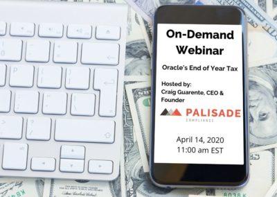 Oracle's End Of Year Tax (Webinar)