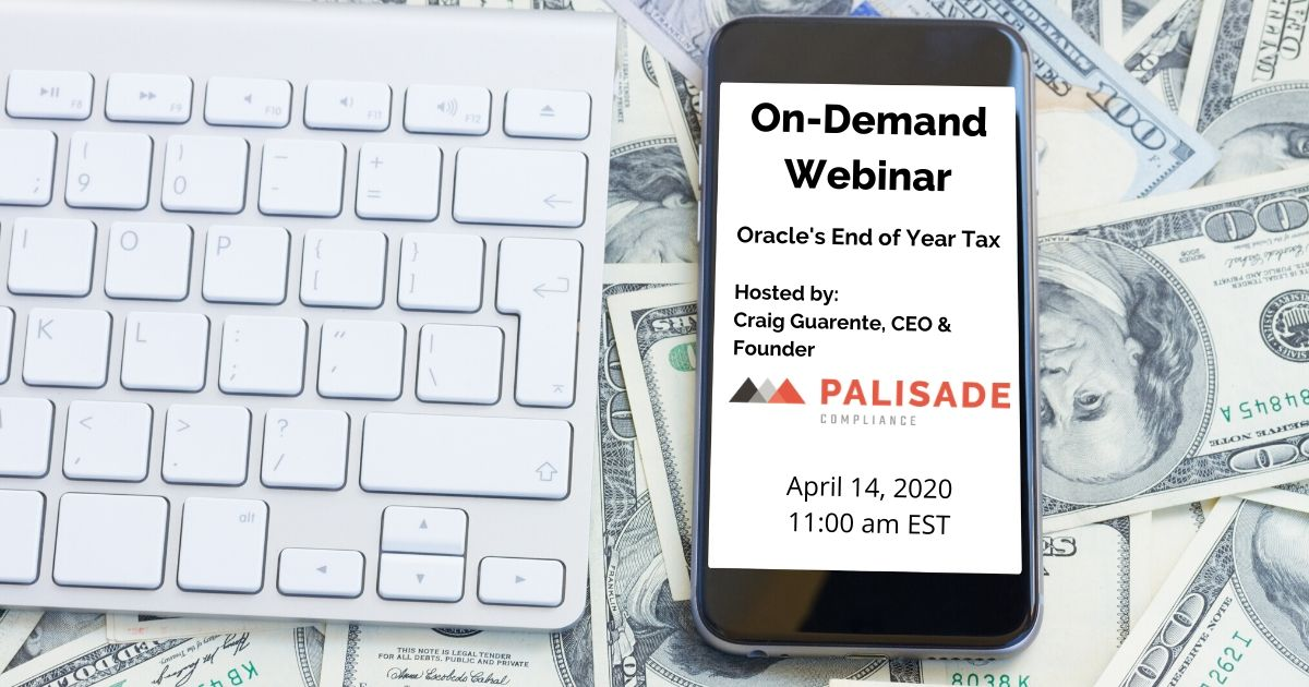 oracle's end of year tax webinar