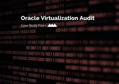 Oracle Virtualization Audit Case Study