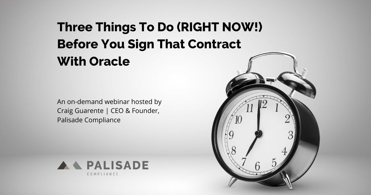 three things to do before you sign that oracle contract