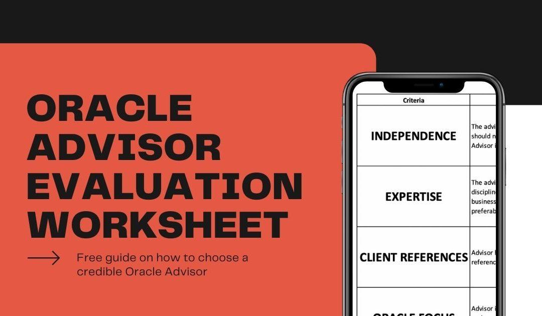 Oracle Advisor Evaluation Sheet