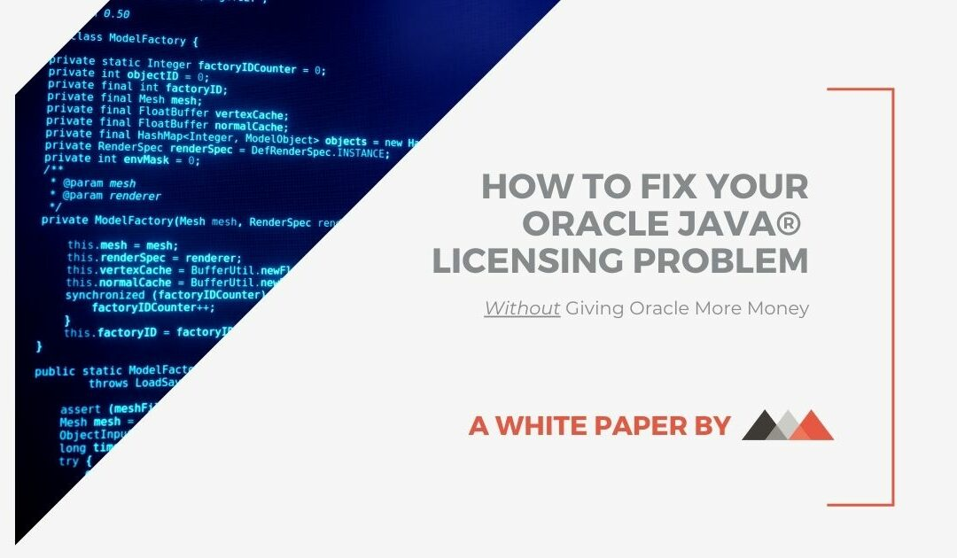 How to Fix Your Oracle Java Licensing Problem (White Paper)