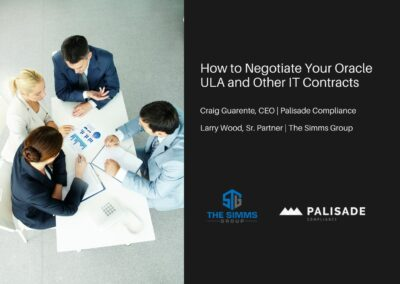 How to Negotiate your Oracle ULA and other IT Contracts (Webinar)